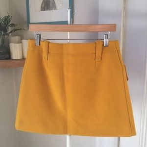 Sonia Rykiel Skirts - Sonia by Sonia Rykiel yellow wool mini skirt S